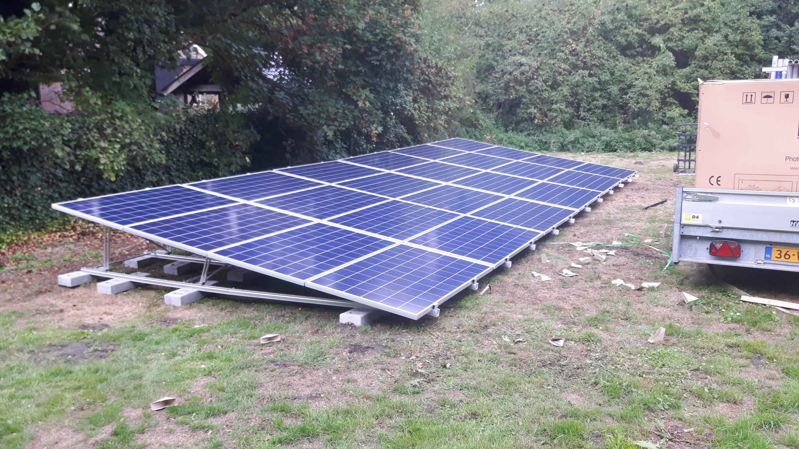 Valk schans met IBC zonnepanelen Dedemsvaart