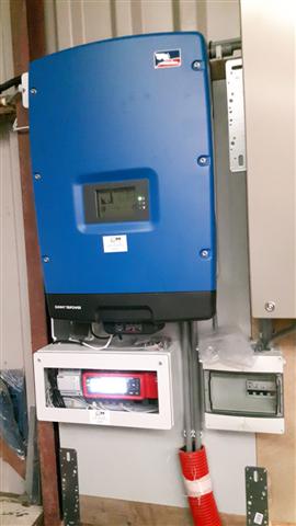 SMA omvormer tripower met cluster controller en energy meter Broekland