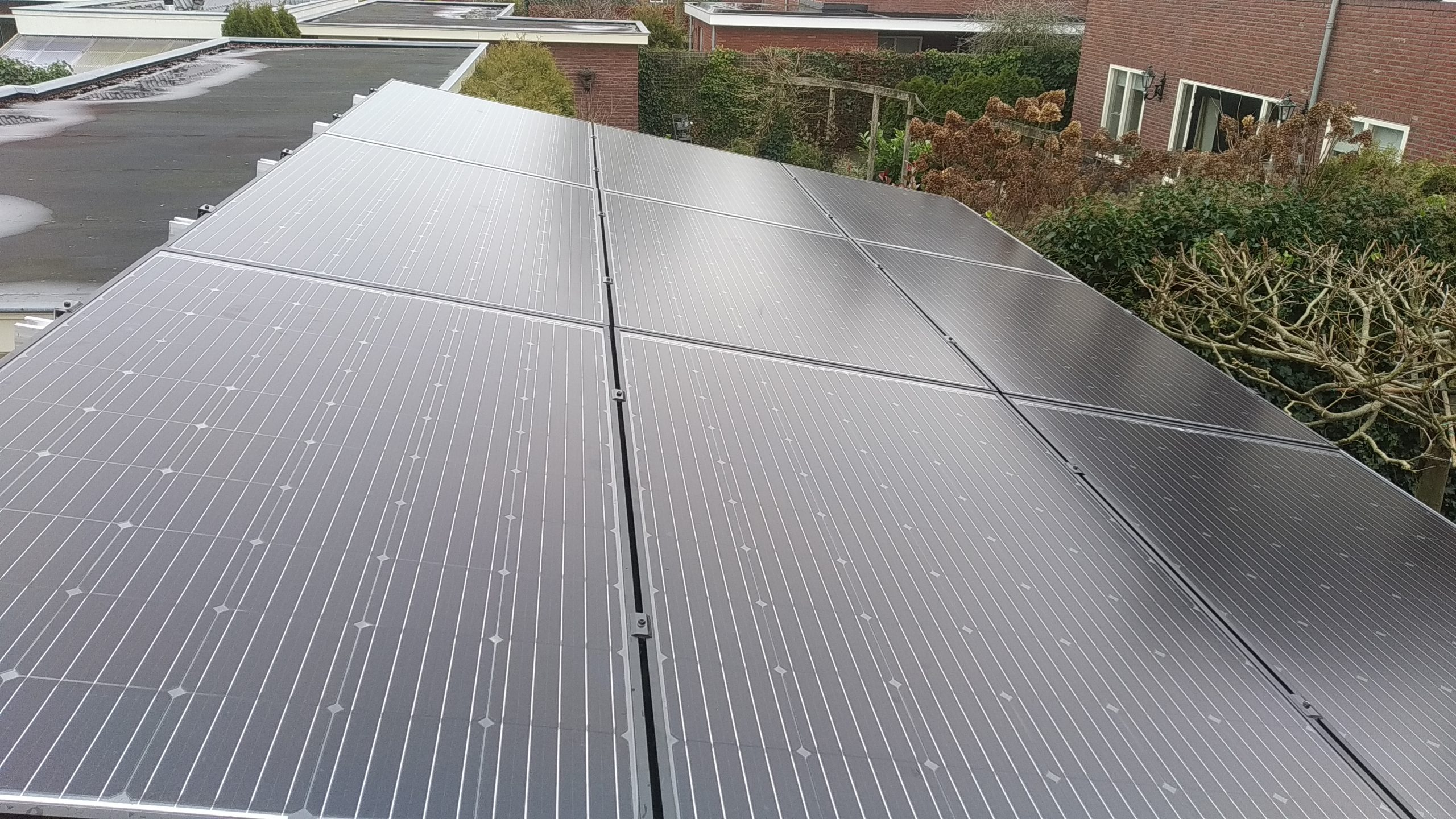 Solarwatt glas glas zonnepanelen en valk schans Beilen