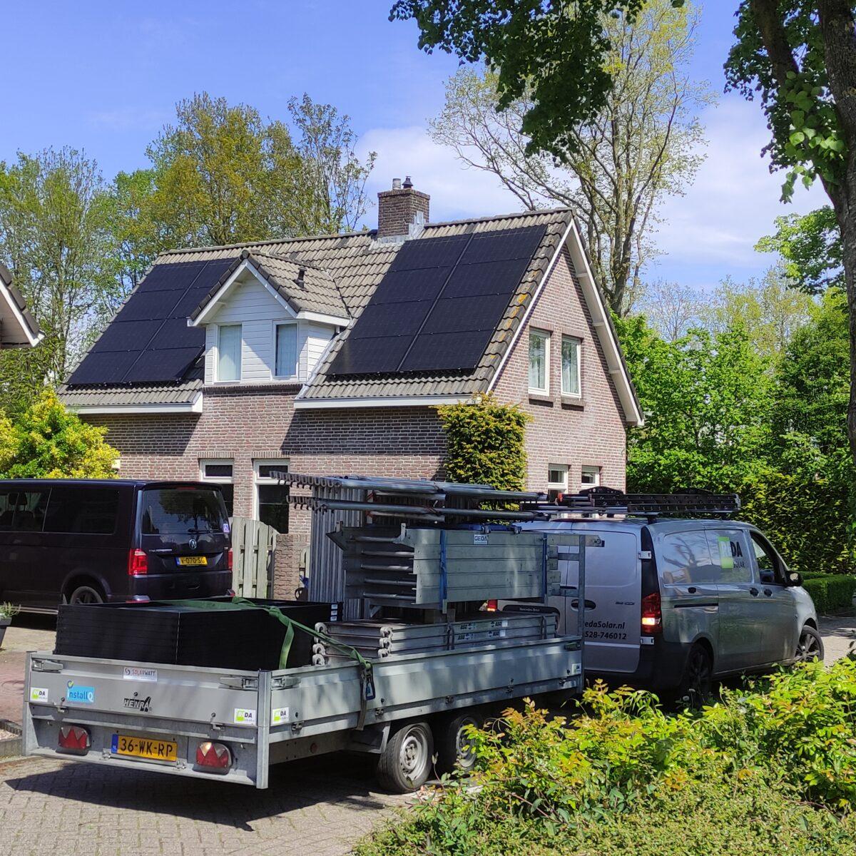 SolarWatt black edition glas/glas zonnepanelen Alteveer